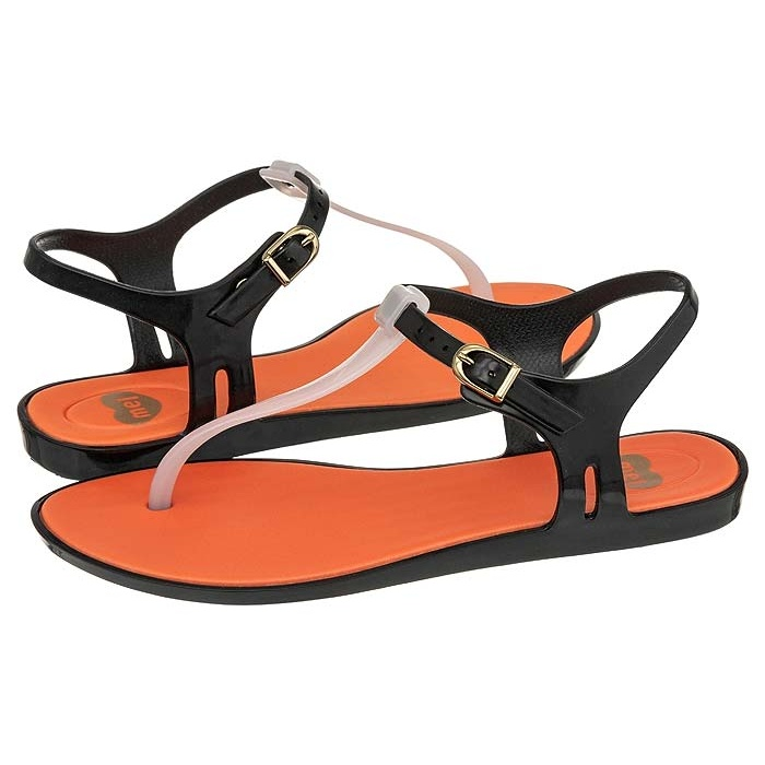 Buty Mel by Melissa Blackberry Black/Beige/Orange - butsklep