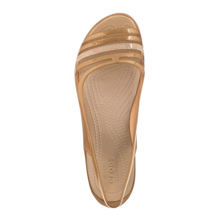 Sandały Crocs Isabella Huarache Flat W Bronze 202463 854 w