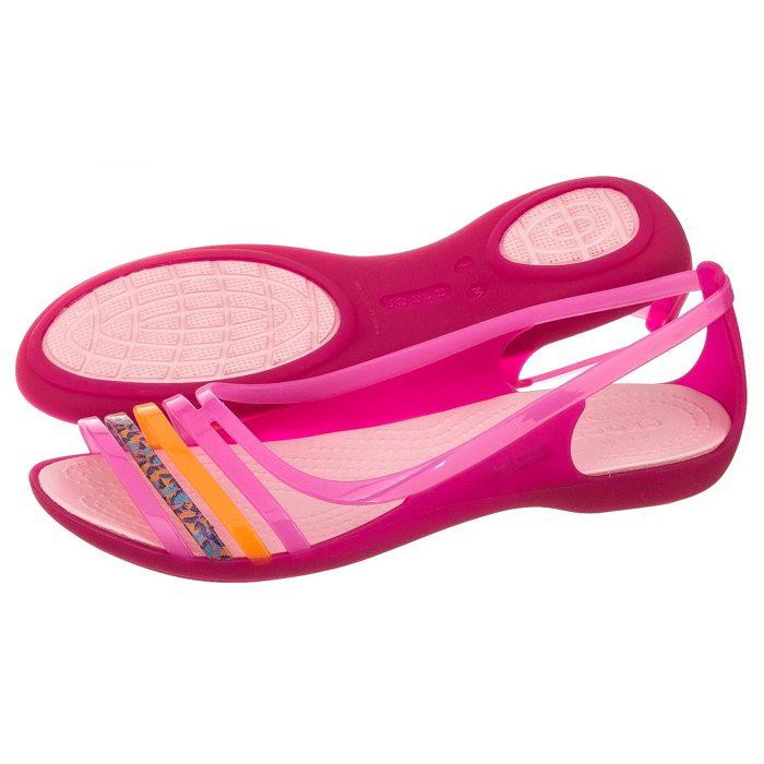 najlepsze buty niesamowite ceny szczegóły dla Sandały Crocs Isabella Huarache Flat W Petal Pink 202463-6EA ...