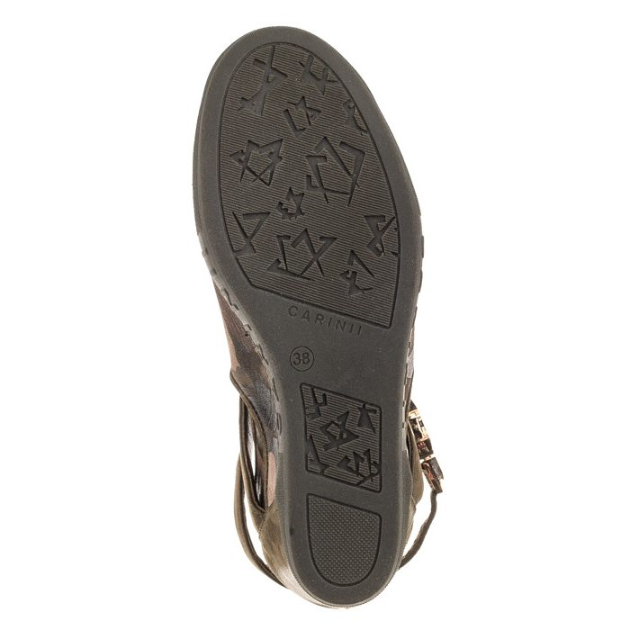 Sneakersy Carinii Zielone Moro B3939 [ B3939 F33 I43 000 B88