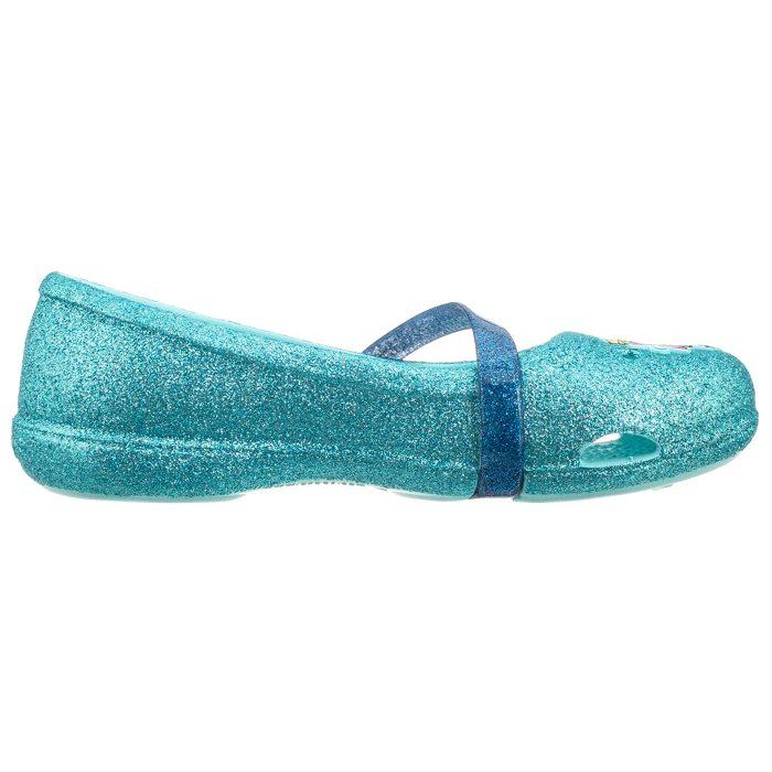 Balerinki Crocs Lina Frozen Flat K Ice Blue 204454 4O9 w