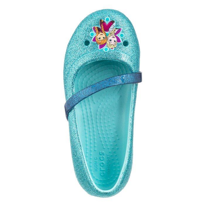 c328e5786284 start Dziecięce Balerinki Balerinki Crocs Lina Frozen Flat K Ice Blue  204454-4O9 Powrót. SALE