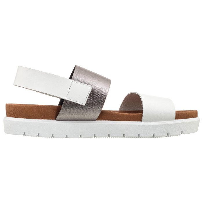 Sandały białesrebrne ramba 23 bi cf (ve95 c) (Venezia)