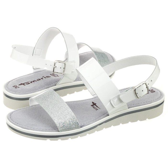 63cc94fb63b9c Sandały Tamaris Białe/Srebrne 1-28122-28 191 White/Silver w ButSklep.pl