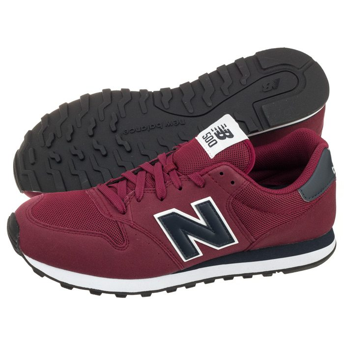 new balance 500 bordowe