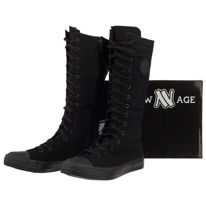 Trampki New Age Czarne CZ008 All Black w ButSklep.pl