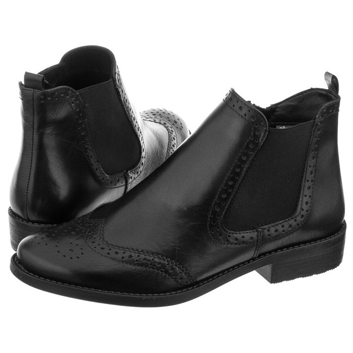Sztyblety Tamaris Czarne 1-25493-29 003 Black Leather