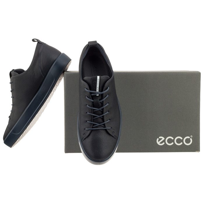 66e05b28 Półbuty Ecco Soft 8 Men's 44050401303 Night Sky w ButSklep.pl