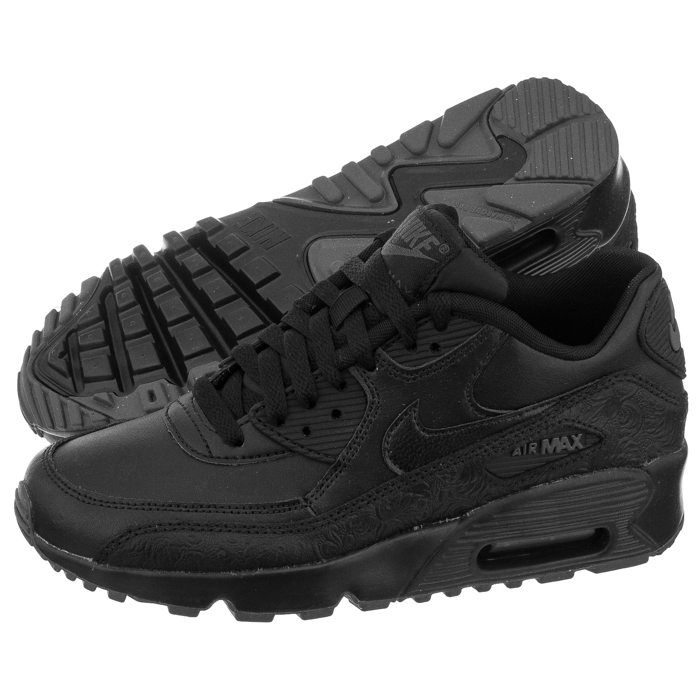 Nike Air Max 90 Leather SE GG Black Black Dark Grey | Footshop