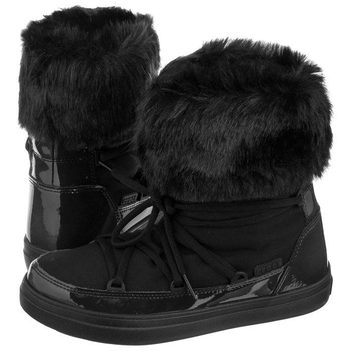 Najnowsza sklep zawsze popularny Śniegowce Crocs Lodgepoint Lace Boot W Black 203423-001 w ...