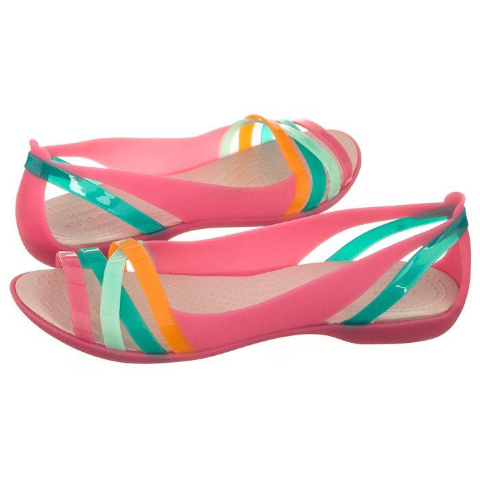 496eea820 Sandały Crocs Isabella Huarache 2 Flat W Pink/Rose Dust 204912-6NU w ...