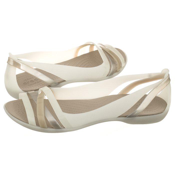 0121a131d Sandały Crocs Isabella Huarache 2 Flat W Oyster/Cobblestone 204912-1C4