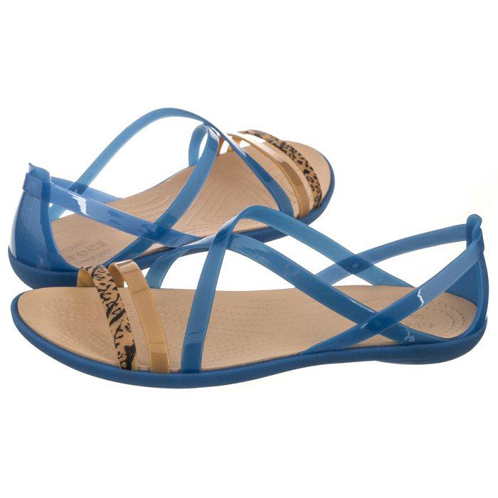 c424998f7f7ef Sandały Crocs Isabella Grph Strappy Sandal Blue Jean/Gold 205084-4HT ...