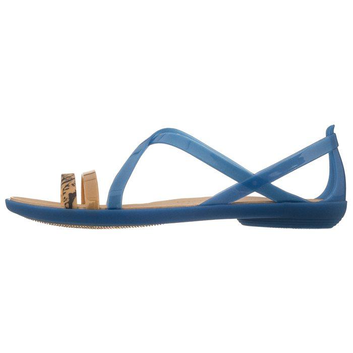 4579a4475b298 start Damskie Sandały Sandały Crocs Isabella Grph Strappy Sandal Blue Jean/ Gold 205084-4HT Powrót. SALE