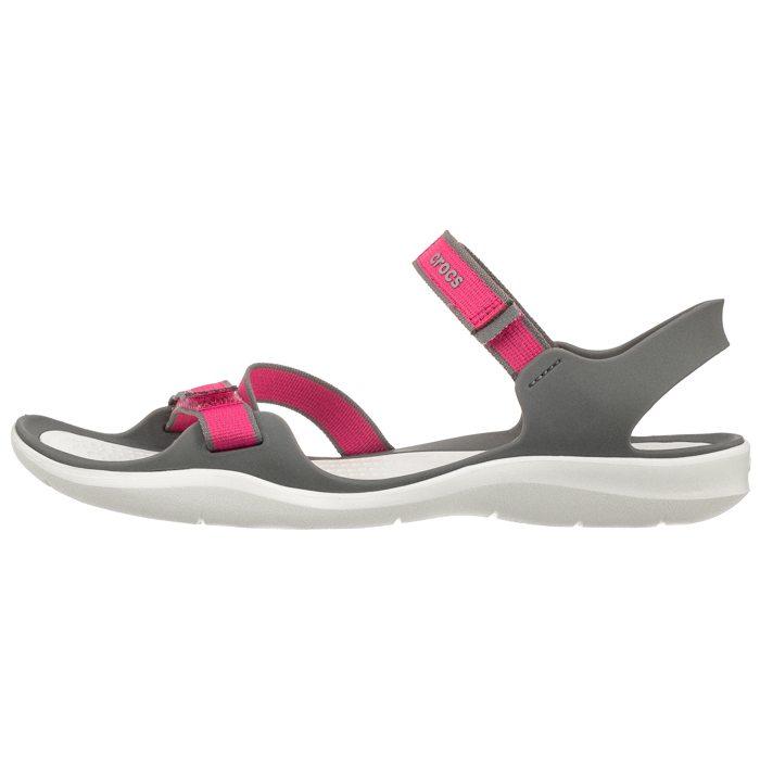 Sandały Crocs Swiftwater Webbing Sandal Paradise PinkSmoke