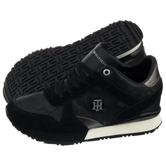 e0730153ea058 Sneakersy Tommy Hilfiger Camo Metallic Wedge FW0FW03264 990 Black w ...