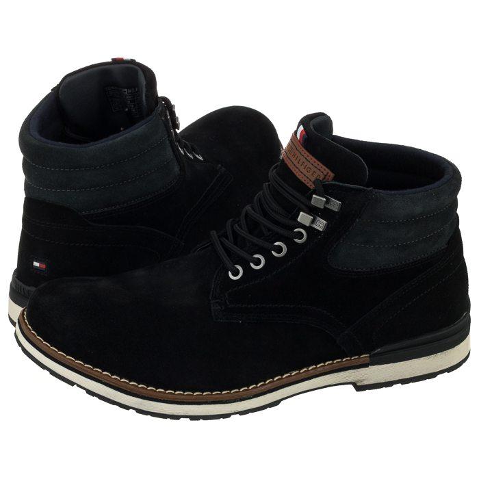 aaf943f267b8 Trzewiki Tommy Hilfiger Outdoor Suede Boot FM0FM01748 990 Black w ...