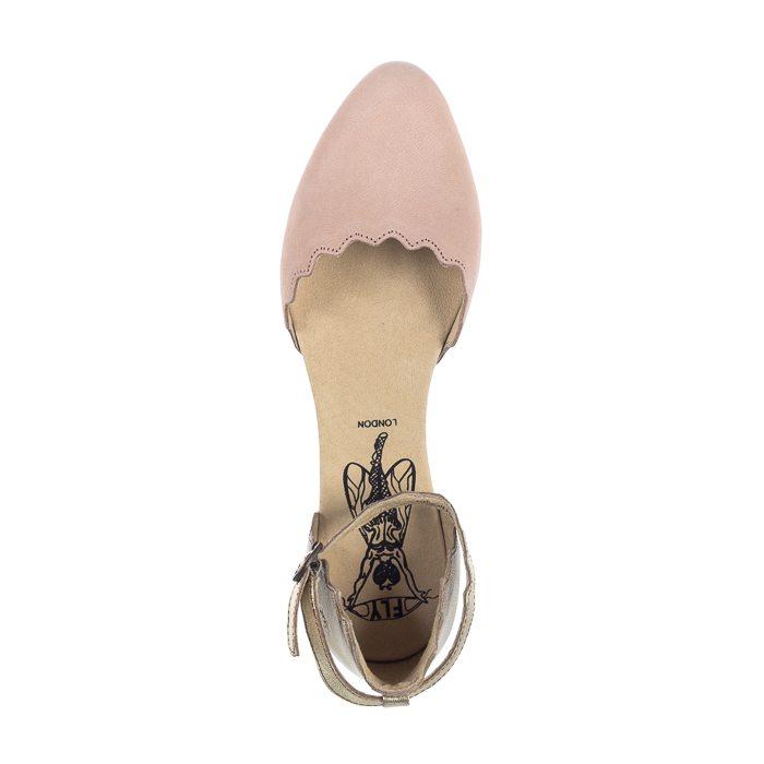 FLY London Megs Cupi/Idra Nude Pink/Gold P144210010 (FL268