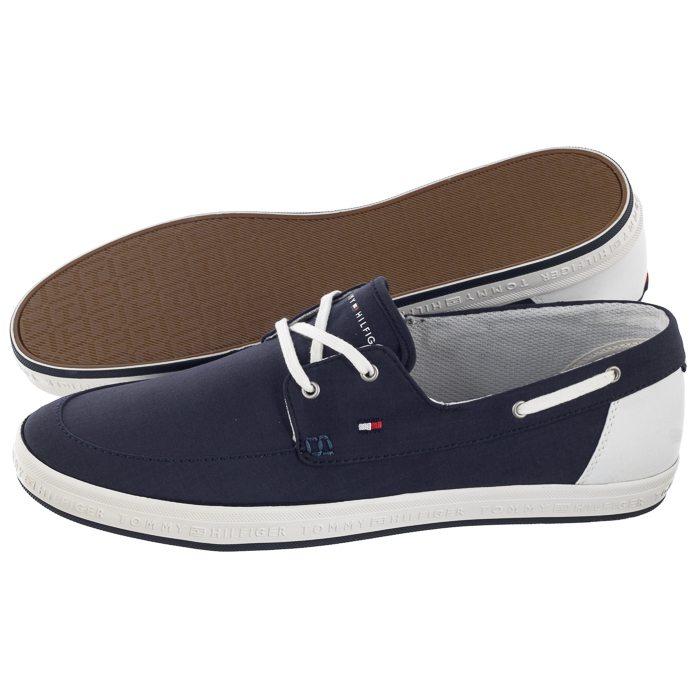 f075c6b9380 Mokasyny Tommy Hilfiger Seasonal Core Boat Shoe Sneaker FM0FM02205 403  Midnight