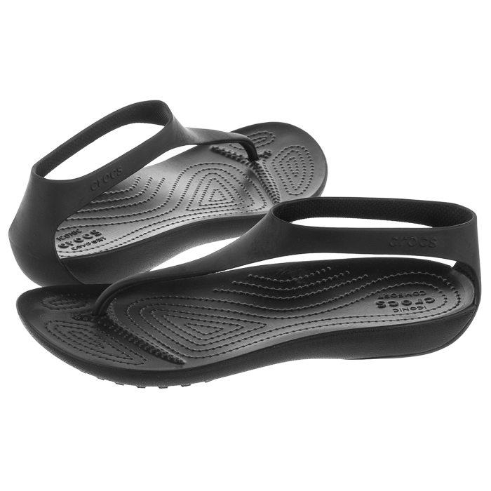 Sandały Crocs Serena Flip W Black 205468 060 w ButSklep.pl