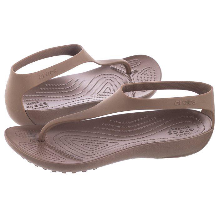 Sandały Crocs Serena Flip W Bronze 205468 860 w ButSklep.pl