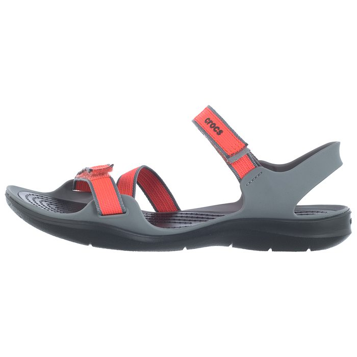 Sandały Crocs Swiftwater Webbing Sandal CoralGrey 204804