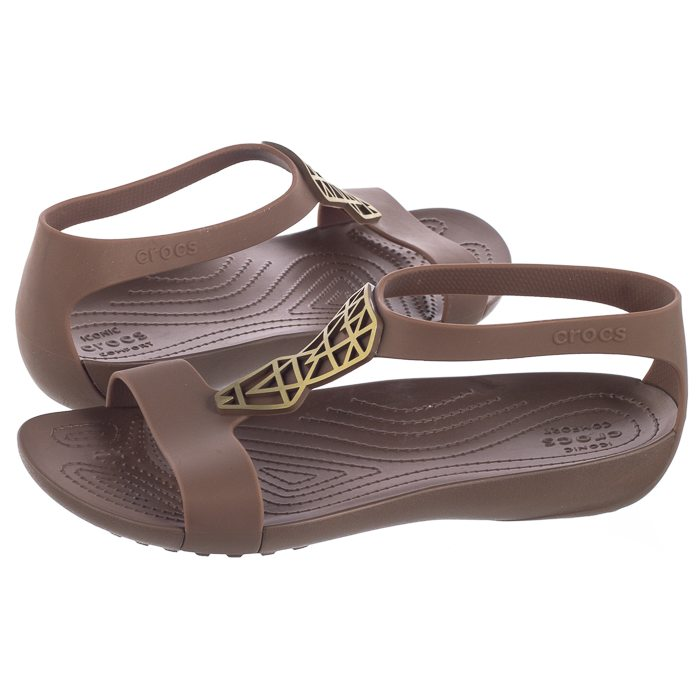 wysoka jakość na stopach zdjęcia najniższa cena Sandały Crocs Serena Embellish Sandal W Bronze 205601-860 w ...