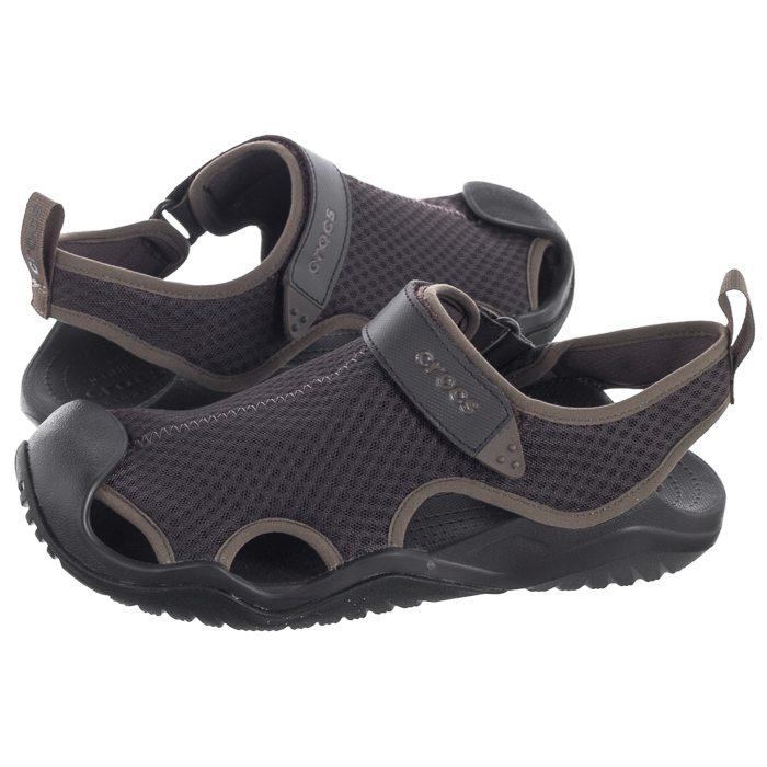 oryginalne buty uroczy wiele stylów Sandały Crocs Swiftwater Mesh Deck Sandal Espresso 205289 ...