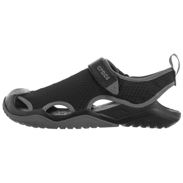 Sandały Crocs Swiftwater Mesh Deck Sandal Black 205289 001 w