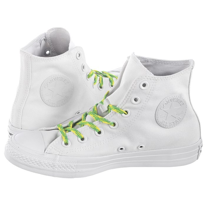 64acdb73acca7 Trampki Converse CT All Star Hi White/Acid Green 564123C w ButSklep.pl