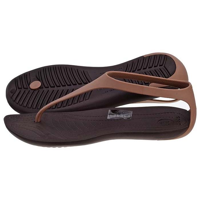 na wyprzedaży sklep z wyprzedażami na wyprzedaży Sandały Crocs Sexi Flip Women Bronze Espresso 11354 w ...