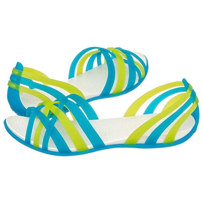 eecf3e31efddc Sandały Crocs Huarache Flat Women Ocean   Oyster 14121 w ButSklep.pl