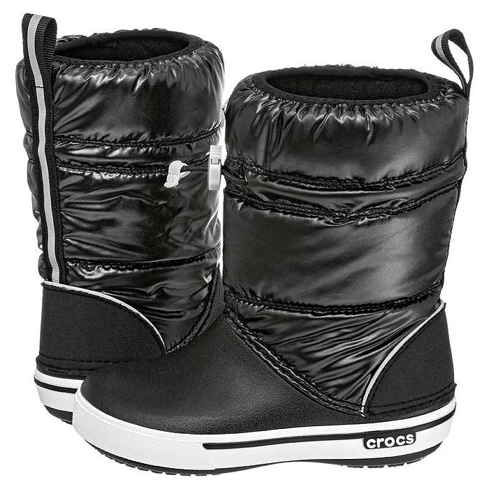 7b5ac2121 Śniegowce Crocs Crocband Iridescent Gust Boot Kids Black-White 12772 ...
