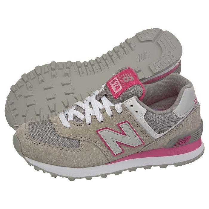 new balance nb574 szaro różowe damskie