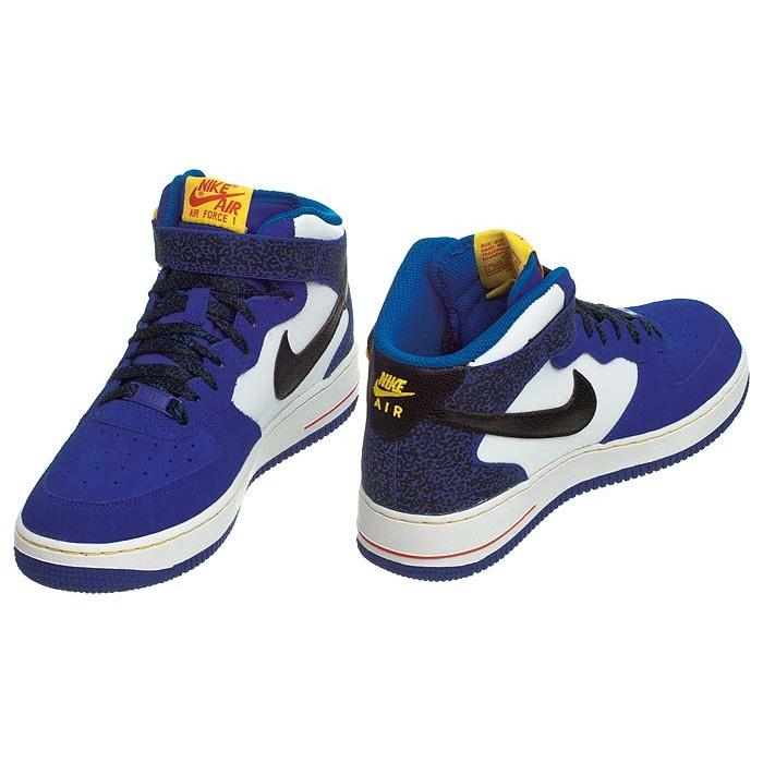 Nike Air Force 1 Mid Gs 314195 403 | Biały, Niebieski