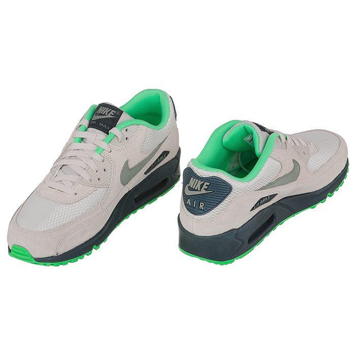 Buty Nike Air Max 90 Essential (NI541 a) butsklep pl zielony zamsz