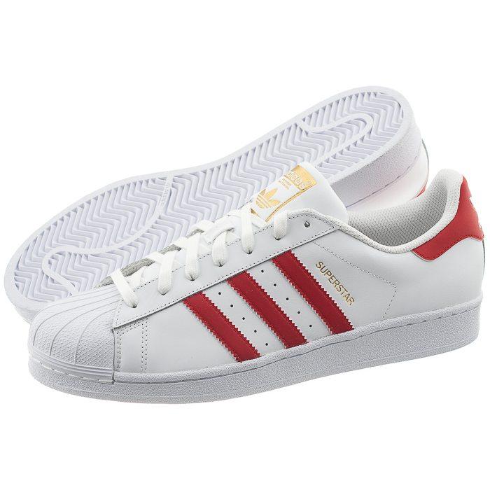 buty adidas superstar damskie czerwone