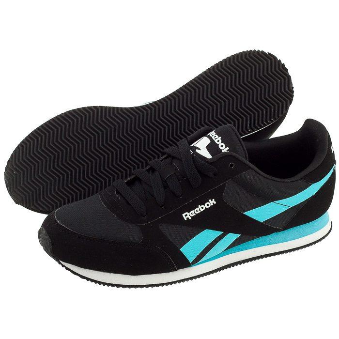 buty reebok damskie czarne z niebieskim