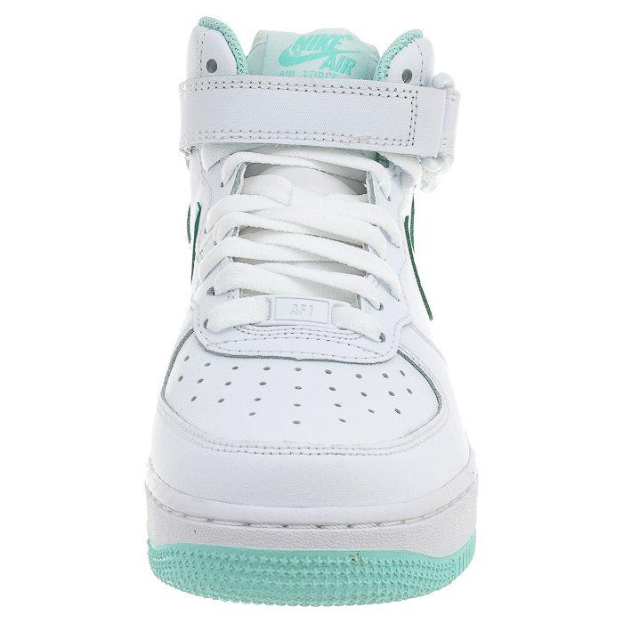Nike Air Force 1 Mid Gs 518218 107 | Biały, Seledynowy