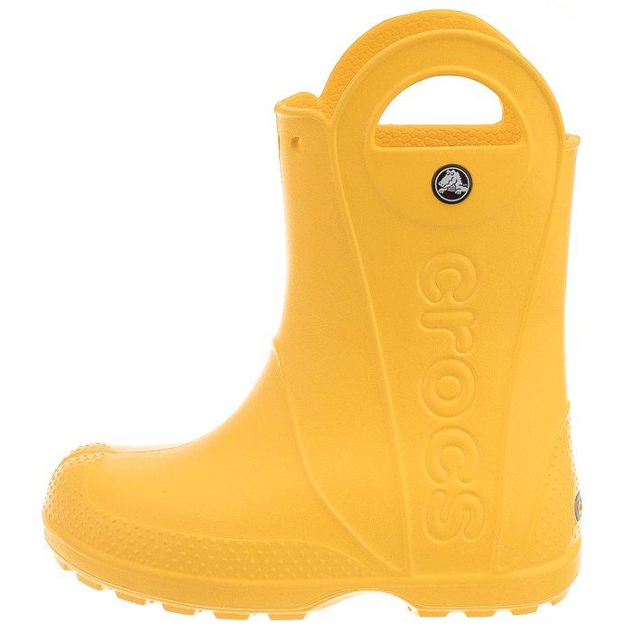 Kalosze Crocs Handle Rain Boot Kids Yellow 12803-730 w ButSklep.pl d61e321ddc7