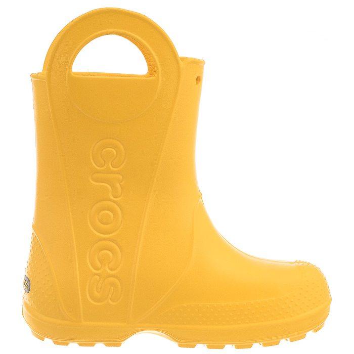 Kalosze Crocs Handle Rain Boot Kids Yellow 12803 730 w