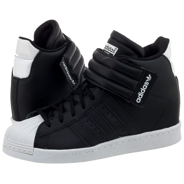 buty damskie sneakersy koturny adidas originals superstar up strap