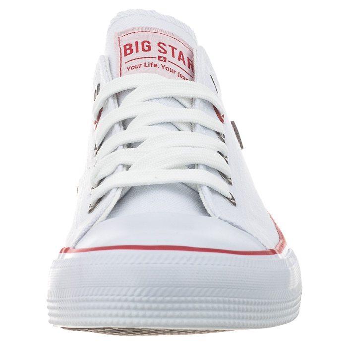 5fc458b346ba6 Trampki Big Star Białe T274022 w ButSklep.pl