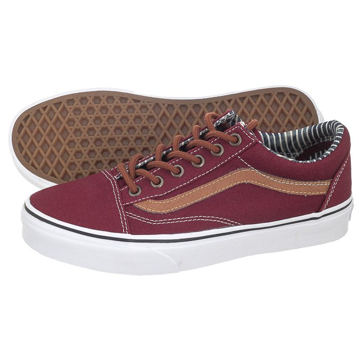vans bordowe old skool damskie
