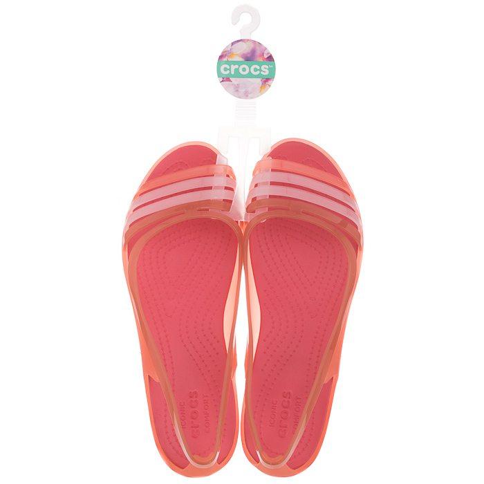Sandały Crocs Isabella Huarache Flat W Coral 202463 689 w