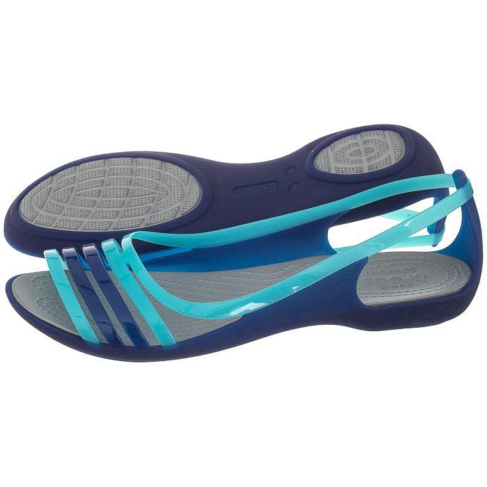 Najlepiej tanio na sprzedaż najnowszy Sandały Crocs Isabella Huarache Flat W Cerulean Blue 202463 ...