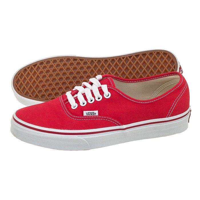 buty vans authentic damskie red
