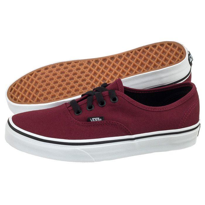 vans authentic bordowe czarne