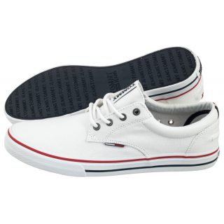 cc74713f4ebf7 Tenisówki Tommy Hilfiger Tommy Jeans Textile Sneaker EM0EM00001 100/White