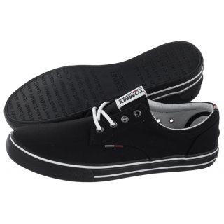 ad3894394c328 Tenisówki Tommy Hilfiger Tommy Jeans Textile Sneaker EM0EM00001 990/Black